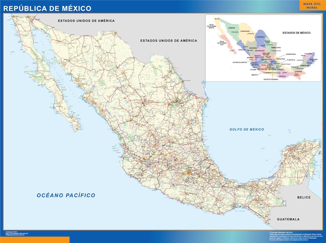 mapa carretero mexico