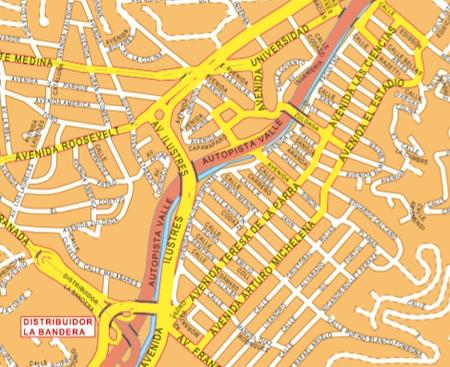 mapa mural caracas