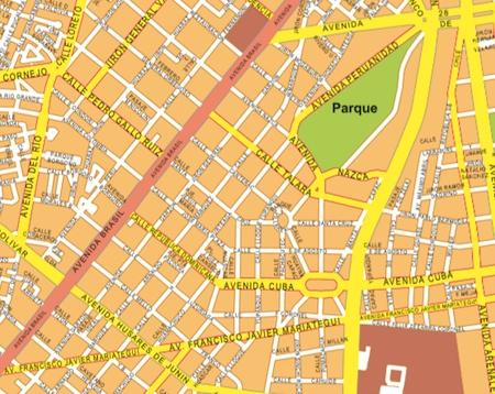 mapa ,mural lima