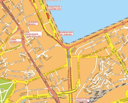 mapa mural rio de janeiro