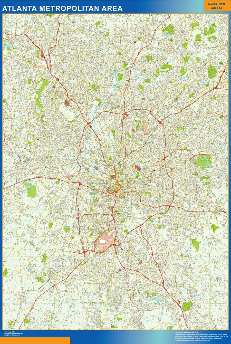 mapa Atlanta