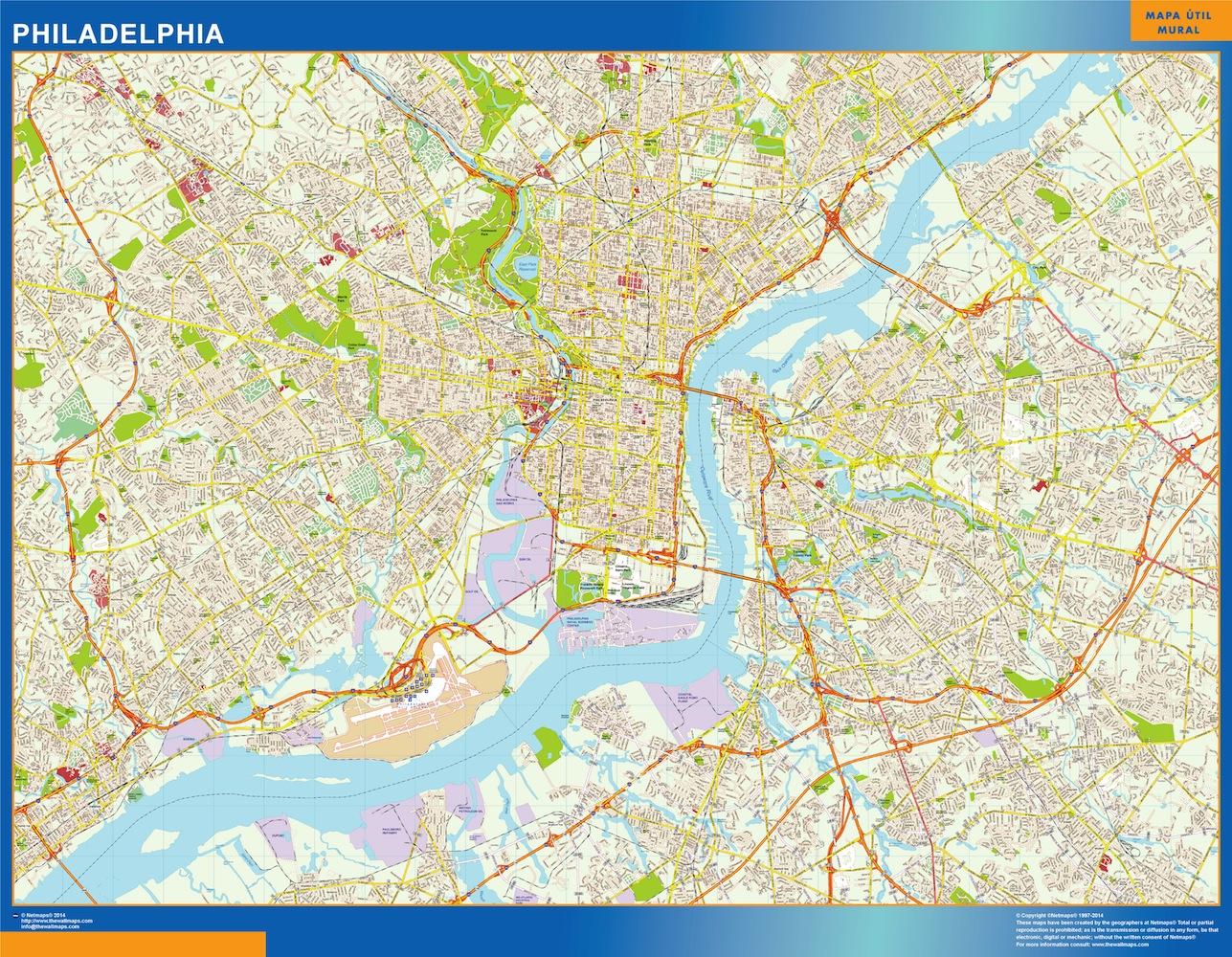 mapa Philadelphia