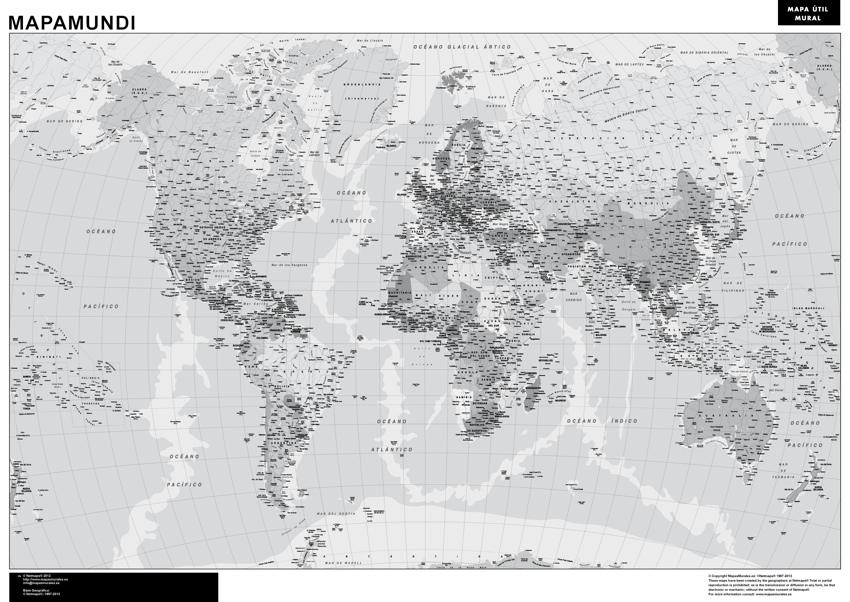 mapamundi blanco negro